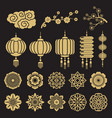 Traditional chinese and japanese decorative design