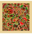 ukrainian traditional ethnic painting floral vector image