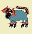 unique original drawing of dog vector image vector image