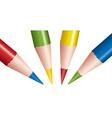 vector strange colored pencils vector image vector image