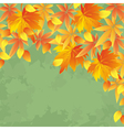 Vintage autumn background leaf fall vector image vector image