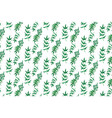 watercolor leaves seamless patterns vector image