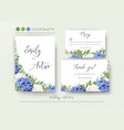 wedding floral invite invitation save the date vector image vector image