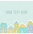 Winter houses card template vector image vector image