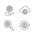 worldwide linear icons set vector image vector image