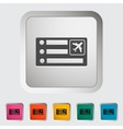 Air ticket vector image