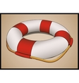 Lifebuoy in perspective vector image