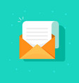 new email message icon flat carton envelope with vector image