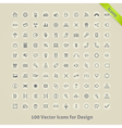 Icons for Design vector image