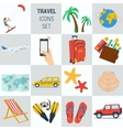 Travel vacation square 15 icons vector image