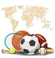 World sport deportes concept Sports equipment vector image