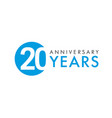 20 years logo concept vector image vector image