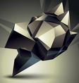 3D contemporary style abstract object cybernetic vector image