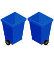 3d design for trashcan with wheels vector image vector image