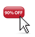 90 Off Button Click vector image vector image