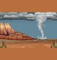 a tornado disaster in nature vector image