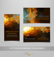 abstract business card templates vector image vector image