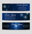 abstract horizntal banners with light effects vector image vector image