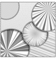 abstract monochrome style composition vector image vector image