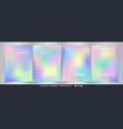 abstract of colorful soft sweet template set vector image vector image