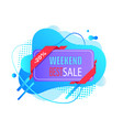 advertising label holiday sale weekend vector image vector image