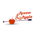 apple and arrow on a white background vector image