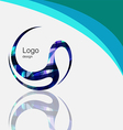Art abstract symbol curve logo design vector image vector image