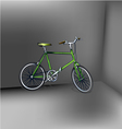 Bicycle green eps10 vector image