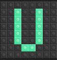 blocks in english capital letter v alphabet set vector image