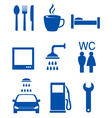 blue road icons vector image