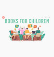 books for children landing page template kids vector image