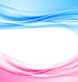Bright blue and pink border abstract background vector image vector image