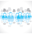 businessmen team with message bubble vector image vector image