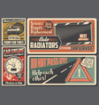car service and auto repair retro signboard vector image