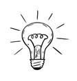 cartoon of shining light bulb vector image