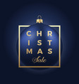 christmas sale banner or sticker blue ball on vector image vector image
