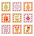 Christmas squares vector image vector image