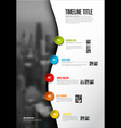 company infographic timeline report template with vector image vector image