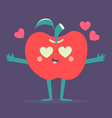 Cute Apple Phone Crazy in Love vector image vector image