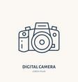 digital camera flat line icon photography vector image vector image