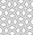 Dotted circle pin will vector image vector image
