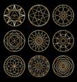 esoteric geometric pentagrams spiritual sacred vector image vector image