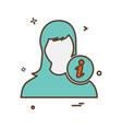 female icon design vector image vector image