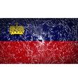 Flags Liechtenstein with broken glass texture vector image vector image