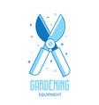 garden secateurs icon vector image vector image