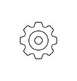 gear mechanism thin line icon linear vector image