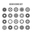 gear wheels set retro vintage cogwheels vector image vector image
