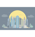 Great city map creator Colour version House vector image vector image
