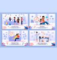 happy life in pregnancy flat posters set vector image vector image