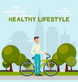 healthy lifestyle concept banner vector image vector image
